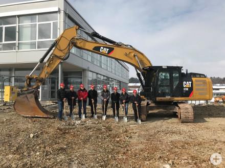 Spatenstich bei der Firma Infinex in Haiterbach
