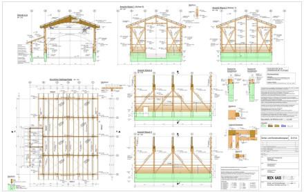Schal- u. Konstruktionsplan Holzbau