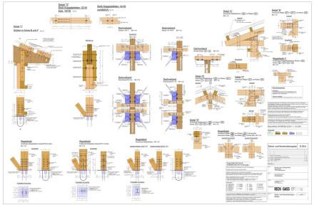 Schal- u. Konstruktionsplan Details Holzbau